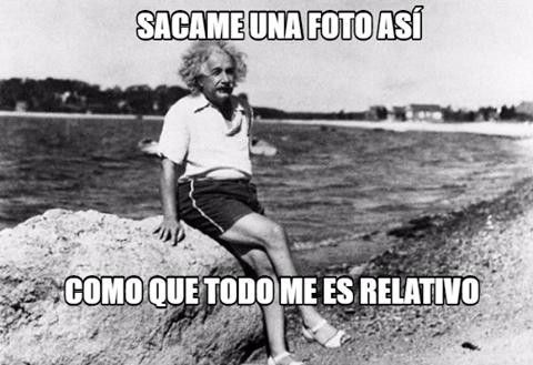 Meme_otros - Einstein y sus fotos