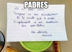 Enlace a Los padres siempre dejando notas recordando lo importante