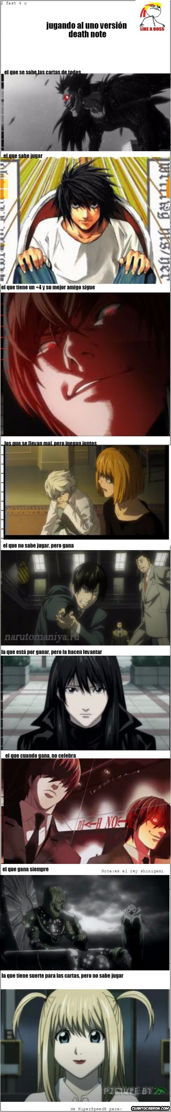 Otros - Los personajes de Death Note jugando al UNO