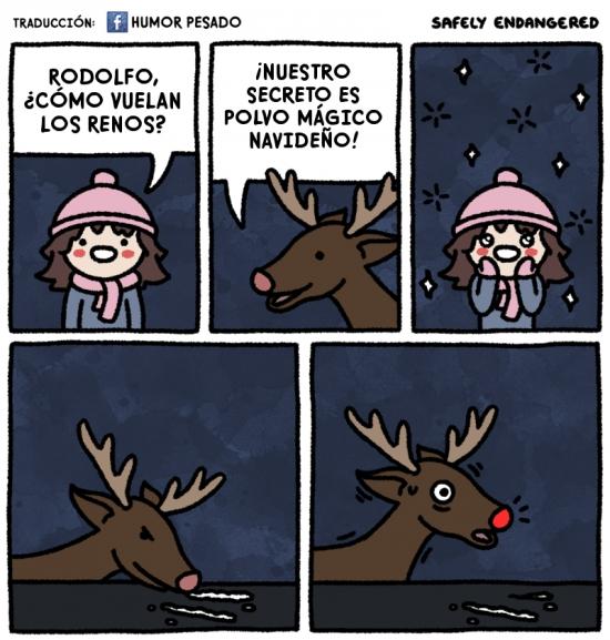 polvo magico navideño,Reno,Rodolfo,volar