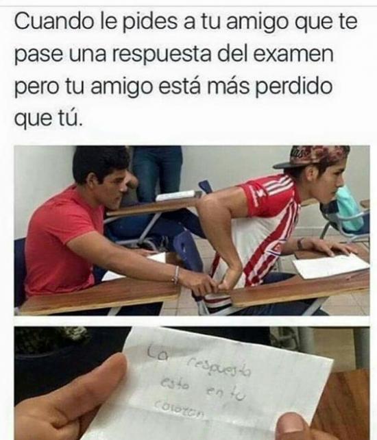 Meme_otros - Vaya amigo en pleno examen...