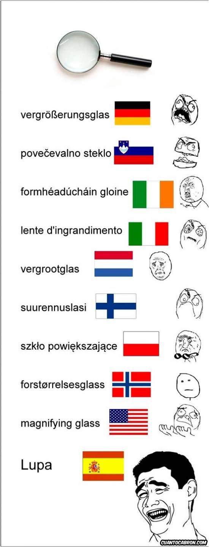 Mix - Lupa en varios idiomas