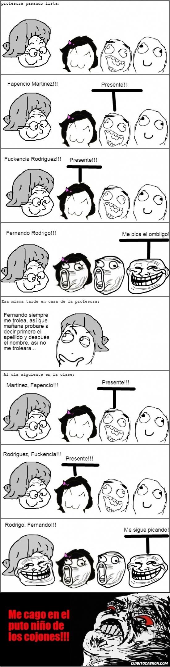 Trollface - Malditos alumnos...
