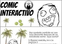Enlace a ¿Sobrevivirás en una isla? (Comic interactivo)