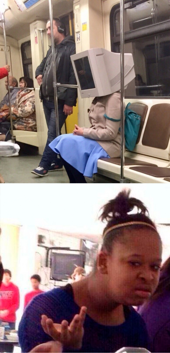 Meme_otros - Hay imágenes que te desconciertan en el metro