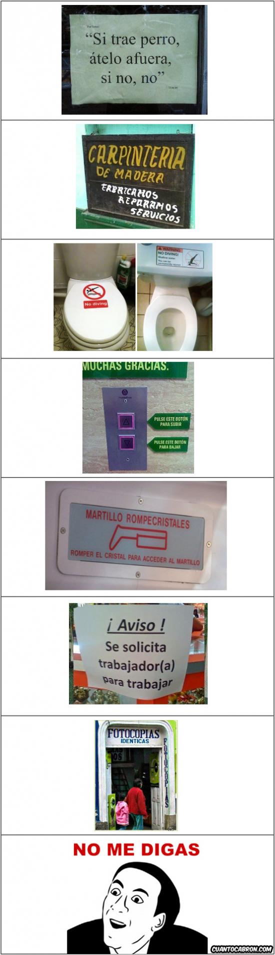 No_me_digas - No me digas, versión: carteles en tiendas