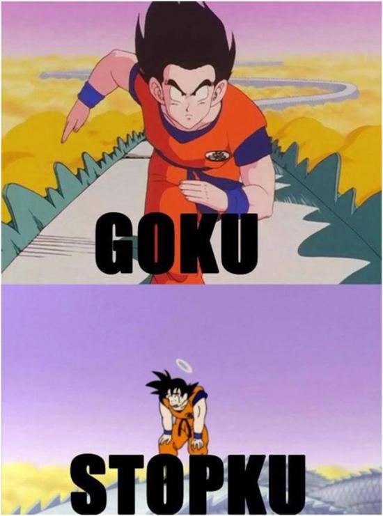 Meme_otros - Las dos versiones de Goku