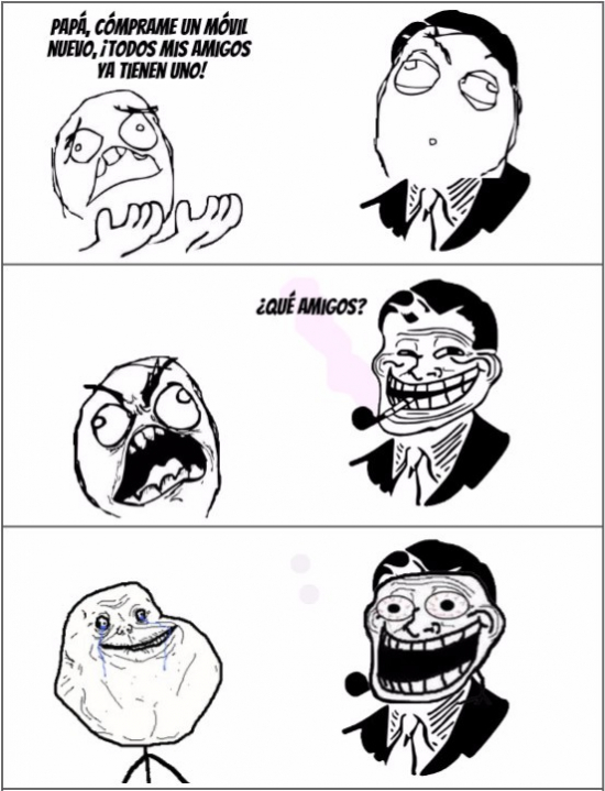 Forever_alone - El padre Troll contra forever alone :(