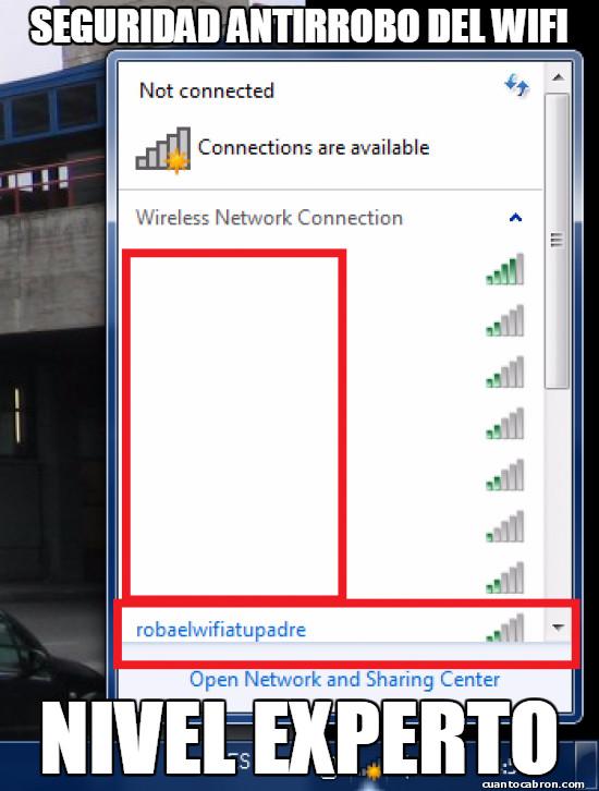 Meme_otros - Cuando estás hasta el moño de que te roben el wifi