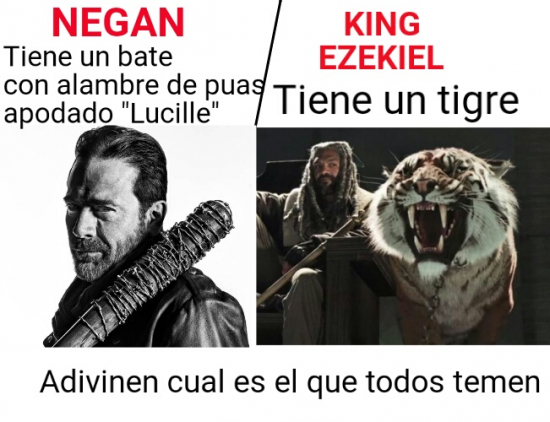 Adivinanza,Negan,Rey Ezekiel,The Walking Dead