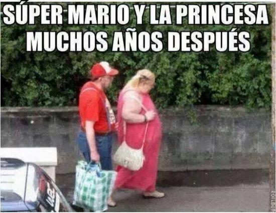 Meme_otros - Mario y Peach 30 años después