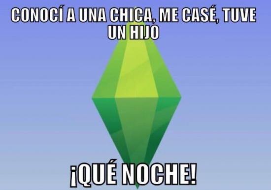 Meme_otros - Los Sims te dan una felicidad plena