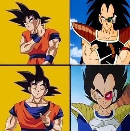 Son_goku - Goku sabe bien que rival prefiere