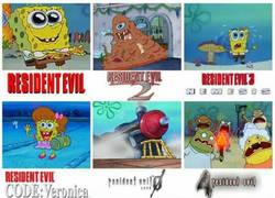 Enlace a Bob Esponja y Resident Evil
