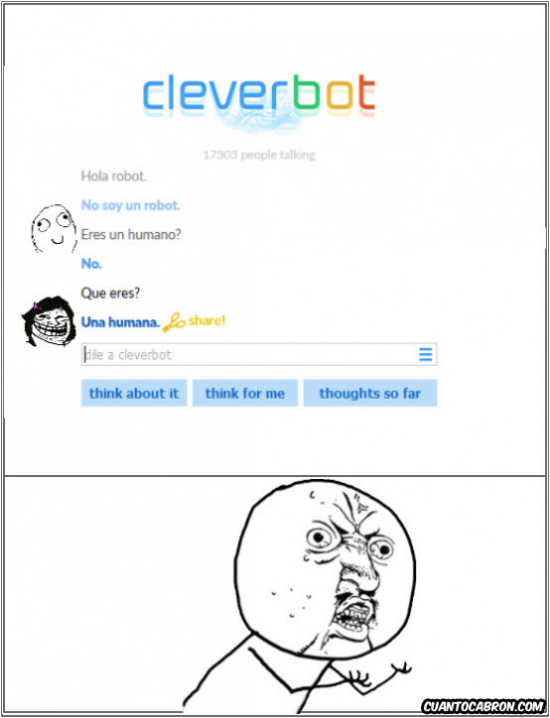 Trollface - Cuando te trollean hasta en el Cleverbot