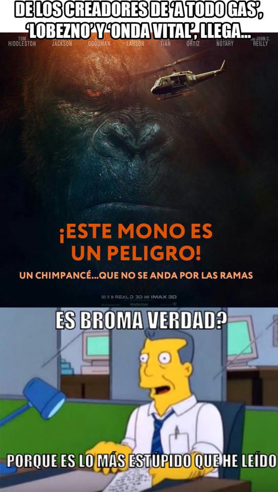 este mono es un peligro