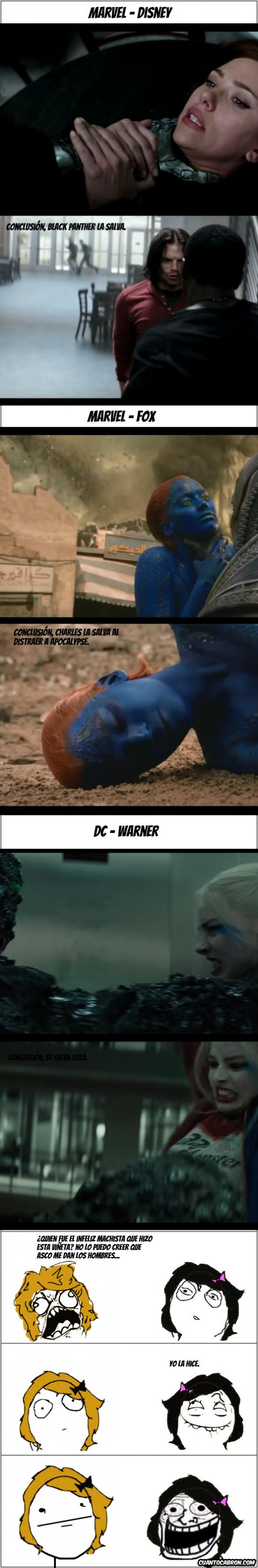 Otros - Finales de peleas en las películas de Marvel y DC