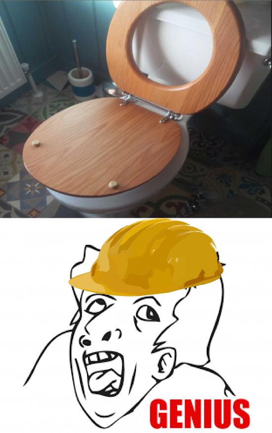 Genius - ¿Y cómo podré sentarme en este inodoro?