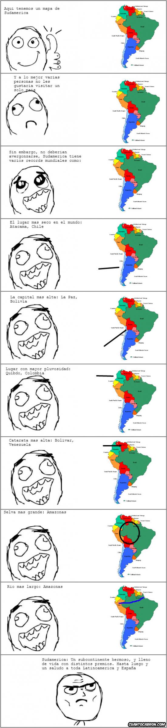 Otros - Distintos récords del hermoso subcontinente: Sudamérica