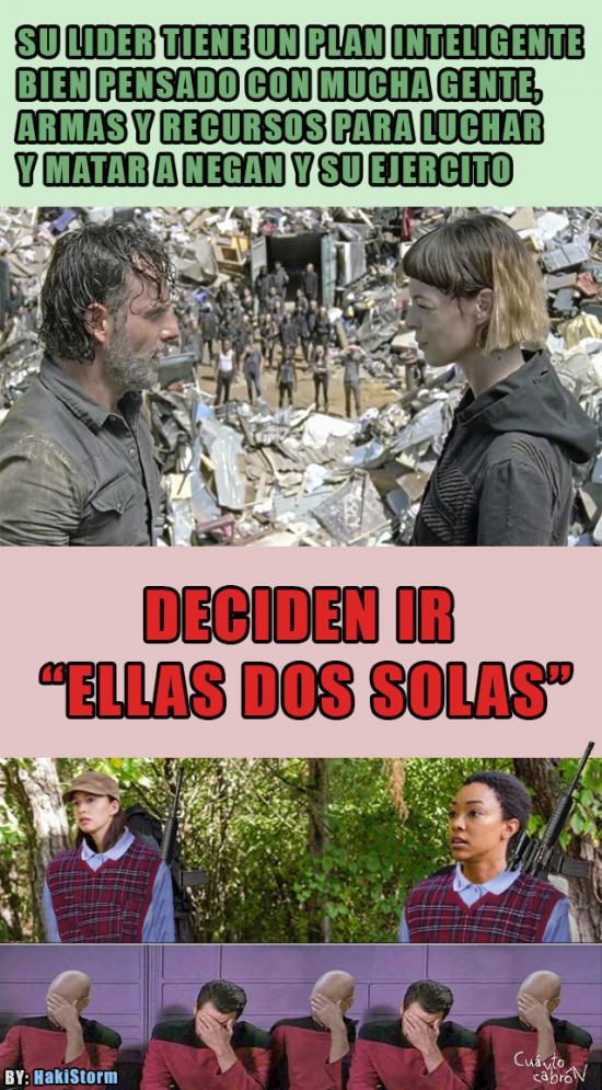 Otros - The Walking Dead y su lógica suicida...