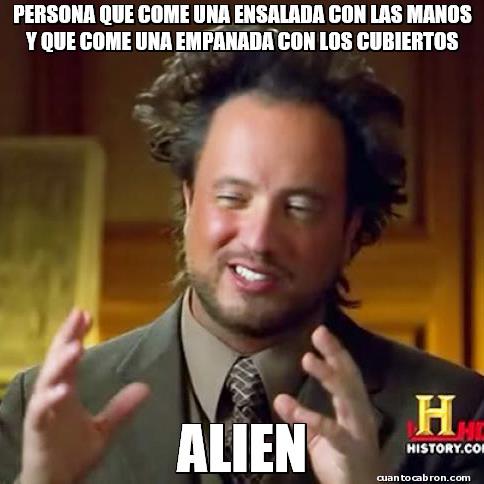 Ancient_aliens - Una forma muy distinta de comer
