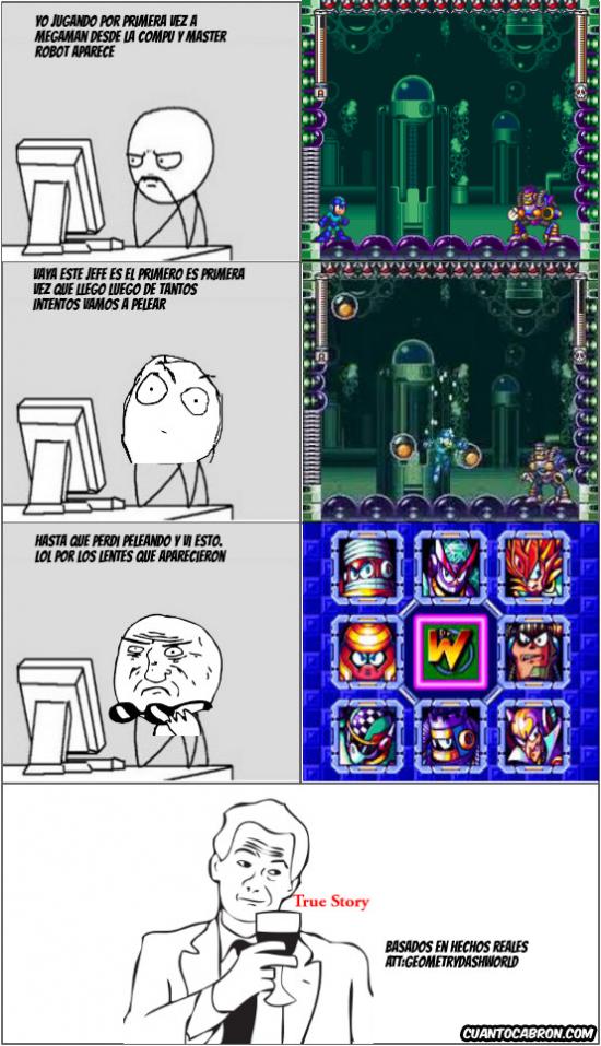 Computer_guy - Cuando empiezas a jugar a Megaman