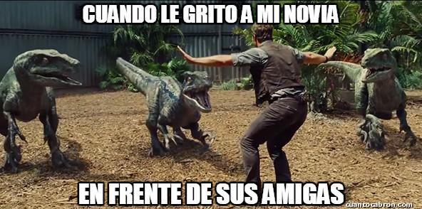 Aparta de aqui Jurassic,dinosaurio,meme,Novia