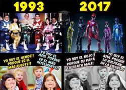 Enlace a Vaya cambios tienen los Power Rangers de hoy con los de antes