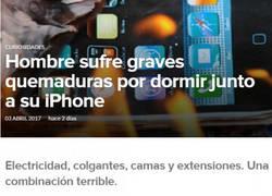 Enlace a El tremendo problema de un usuario con un iPhone y quemaduras