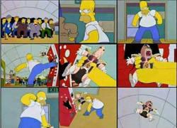 Enlace a Cuando Krilin hizo su aparición en Los Simpson