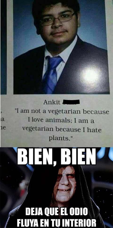 Meme_otros - Un vegetariano muy cruel