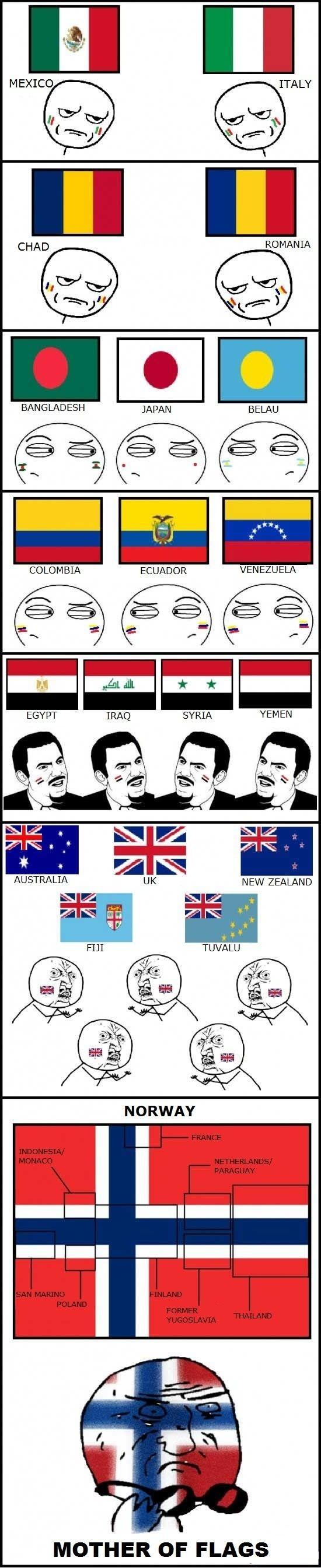 Otros - Banderas y sus parecidos con otras banderas