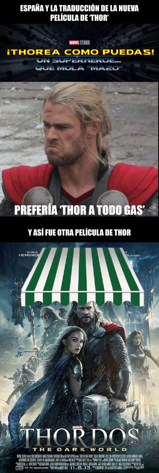 Otros - La traducción de la nueva película de Thor en España