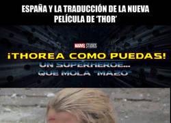 Enlace a La traducción de la nueva película de Thor en España