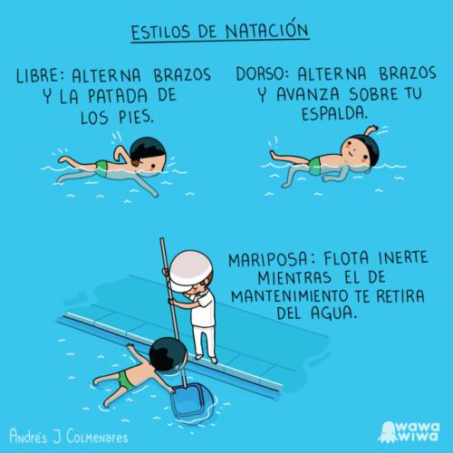 Otros - Aprendiendo estilos de natación