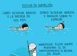 Enlace a Aprendiendo estilos de natación