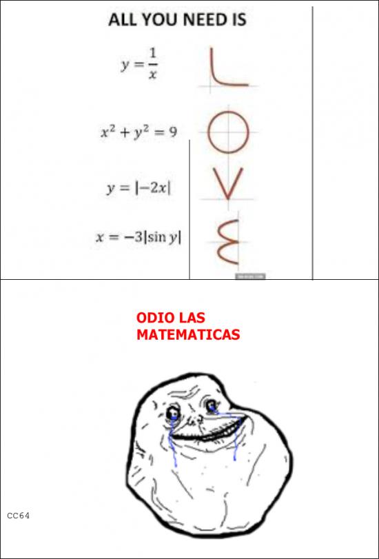 Forever_alone - Las matematicas me odian y yo las odio