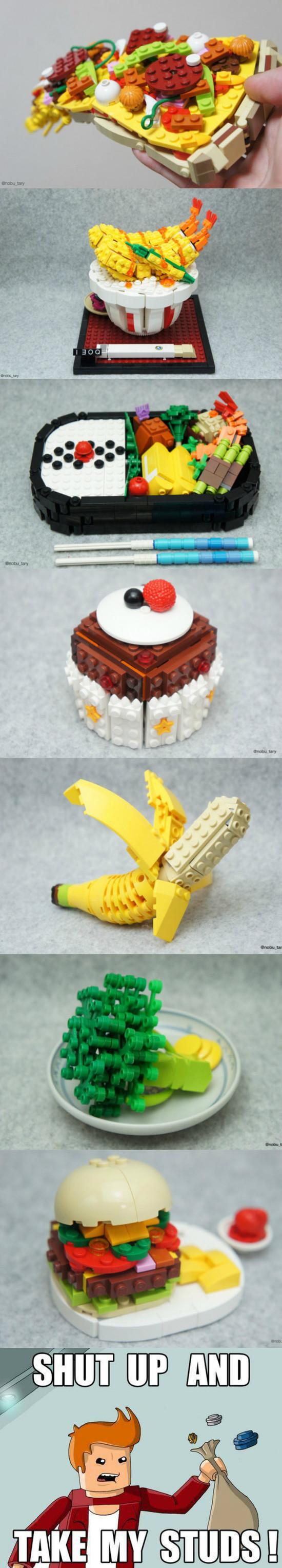 arte,comida,lego
