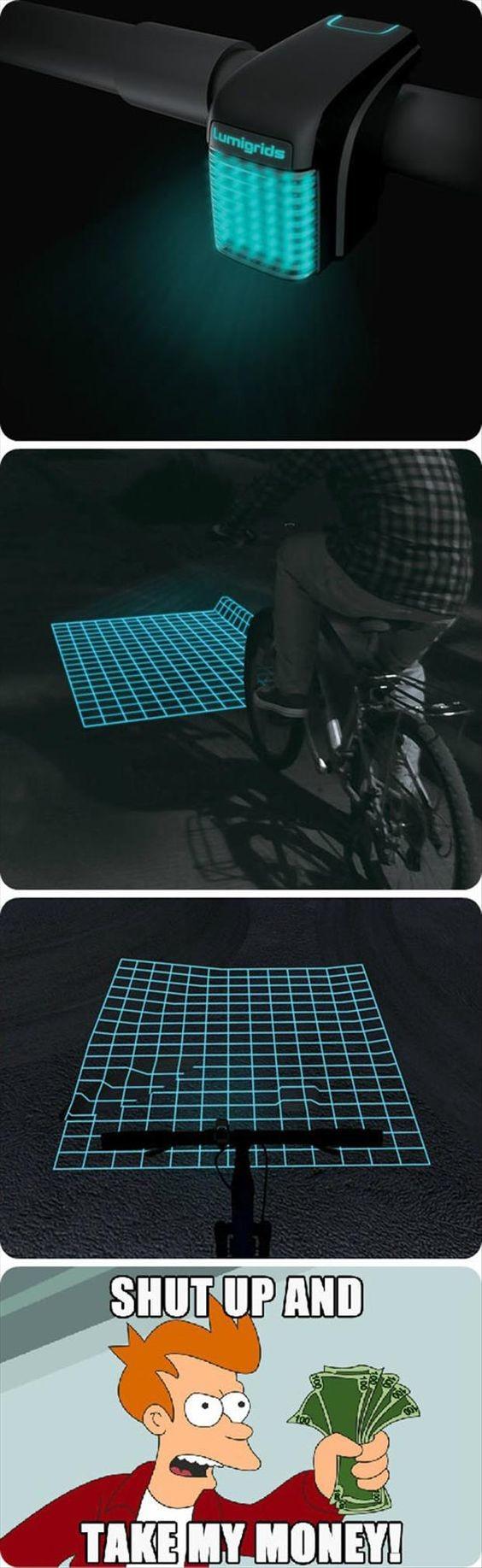 Meme_fry - Una excelente idea para la bici