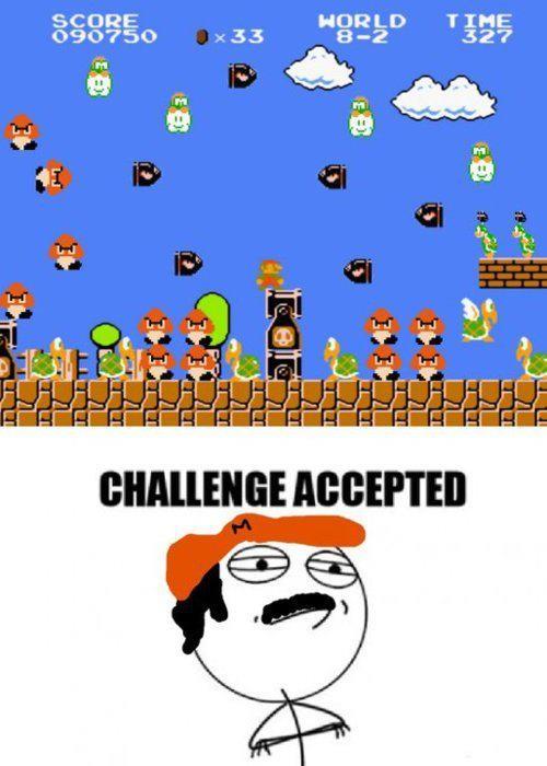 Challenge_accepted - El nivel más complicado de todos en Super Mario Bros