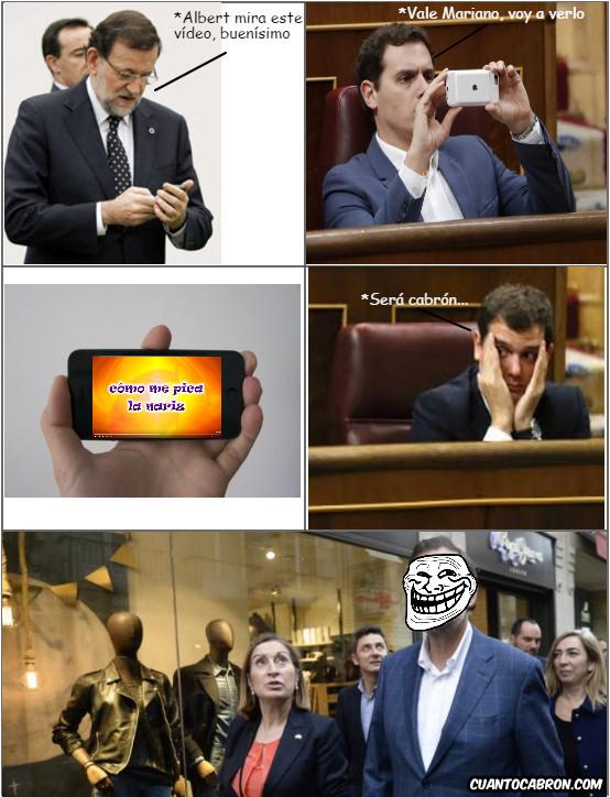 Trollface - El troleo de Mariano Rajoy a Albert Rivera