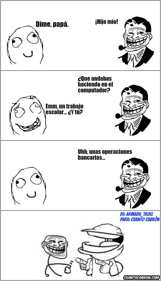Trolldad - Usos del ordenador entre un padre y un hijo
