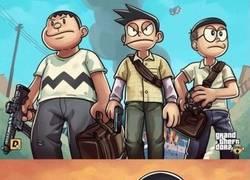 Enlace a Si GTA lo protagonizase los personajes de Doraemon...