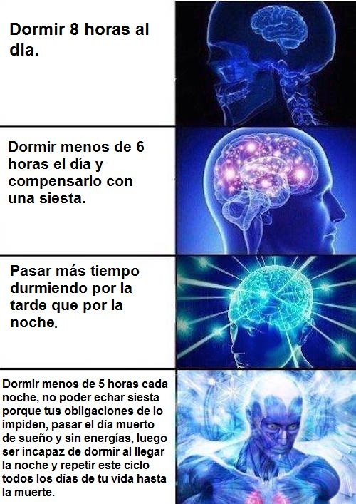 Meme_otros - Diferentes niveles de descanso