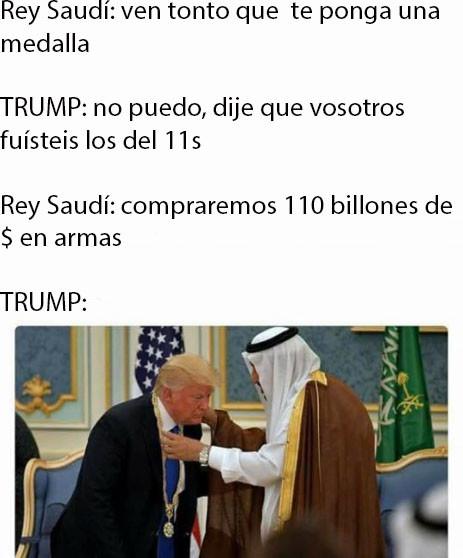 Meme_otros - Y así de fácil se convence a Trump