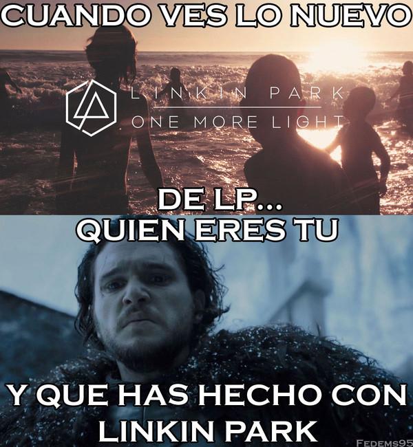 Meme_otros - Cuando ves lo nuevo de Linkin Park
