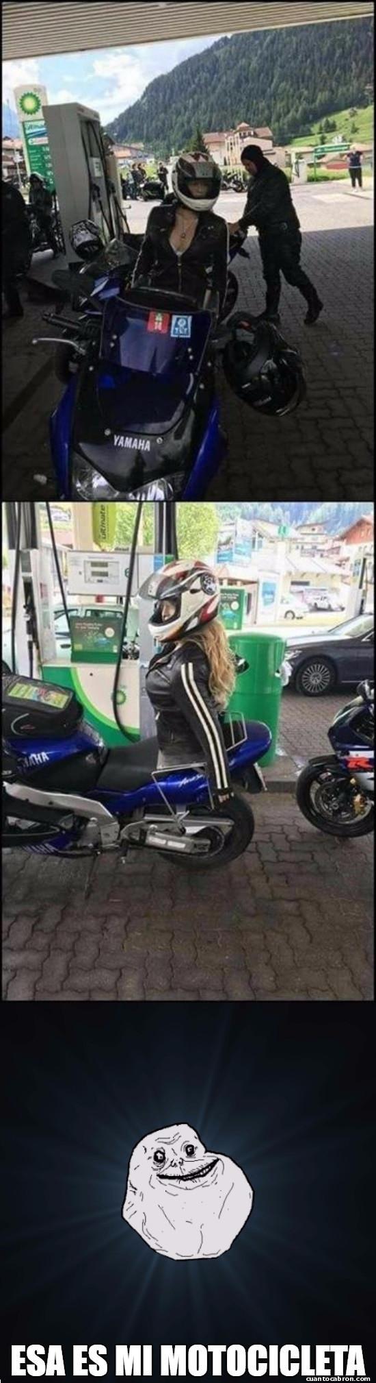Meme_otros - La motocicleta ideal para Forever Alone