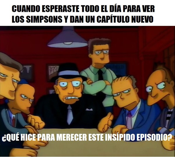 Meme_otros - Los Simpson han decaído mucho
