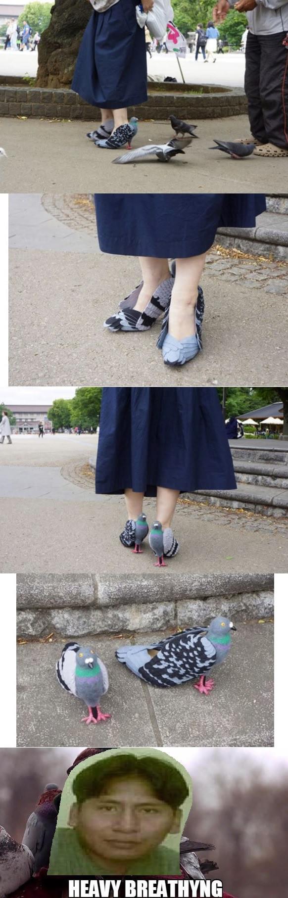 Meme_otros - El sueño peruano: zapatos con forma de palomas