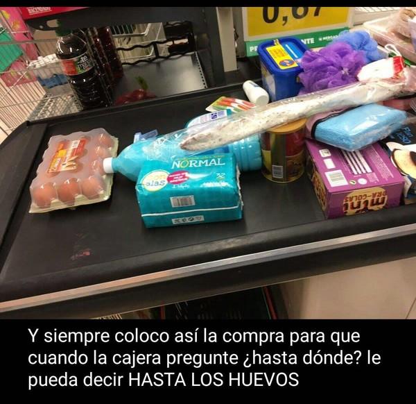 Meme_otros - Una gran estrategia en el supermercado